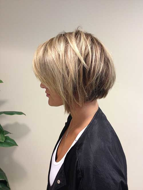 Low-lights-and-Short-Bob Short Haircut Pics for Straight Hair
