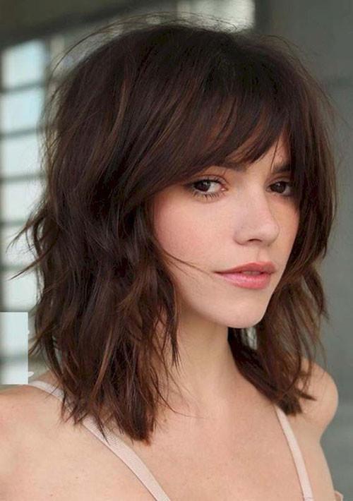 Medium-Length-Hairstyle Cute Short Haircuts and Styles Women