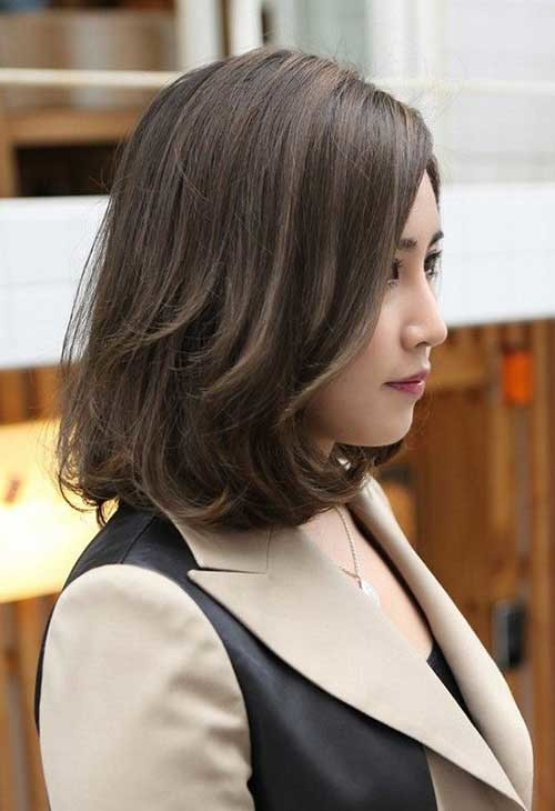 Medium-Short-Asian-Hair Best Must-Try Brunette Bob Haircuts