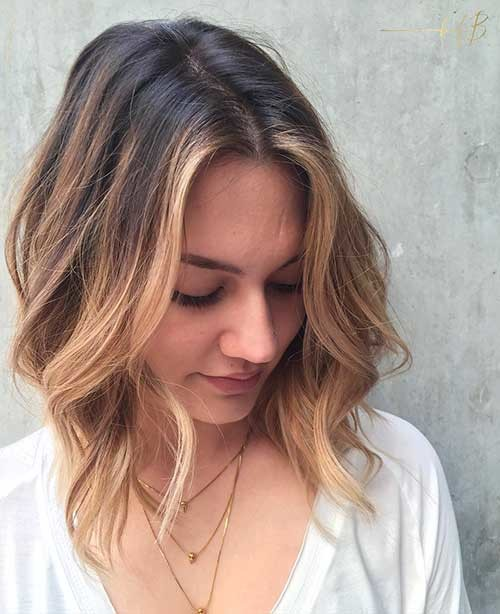Middle-Parted-Balayage-Bob Cool Short Hairstyles You Can Rock This Summer
