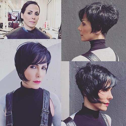 Modern-Short-Hair-with-Bangs Chic Short Hair Ideas with Bangs