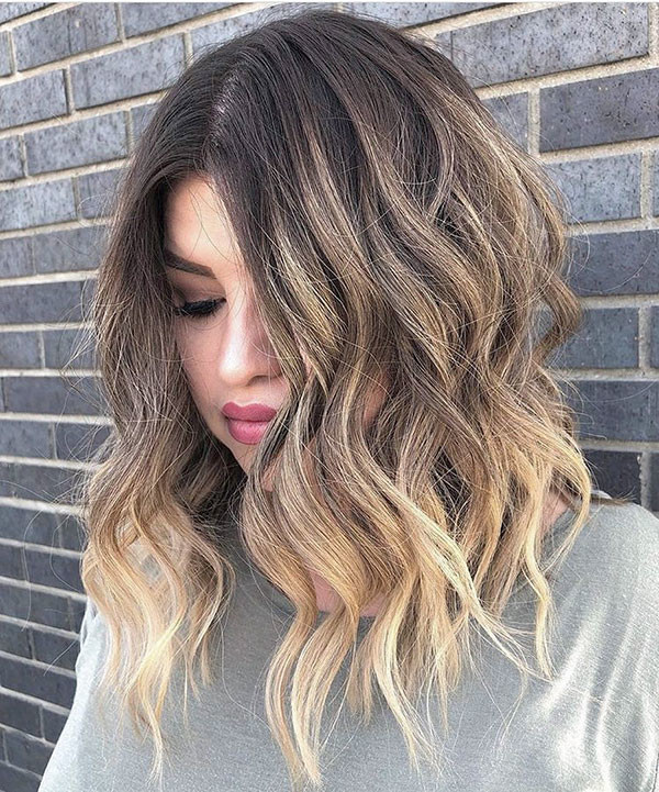Ombre-Hair New Short Wavy Hair Ideas in 2019