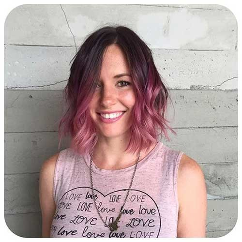 Ombre-Short-Hair-Pink Short Hairstyle Options for Fine Haired Ladies