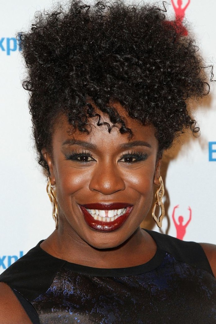 Pinned-Up-Curls Best Short Hairstyles for Black Women