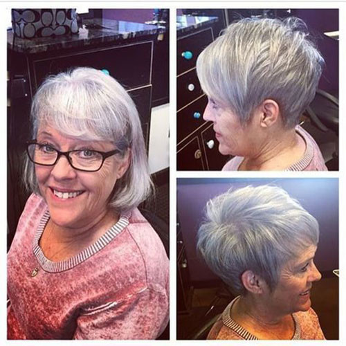Pixie-with-Long-Bangs Best Short Haircuts for Women Over 50