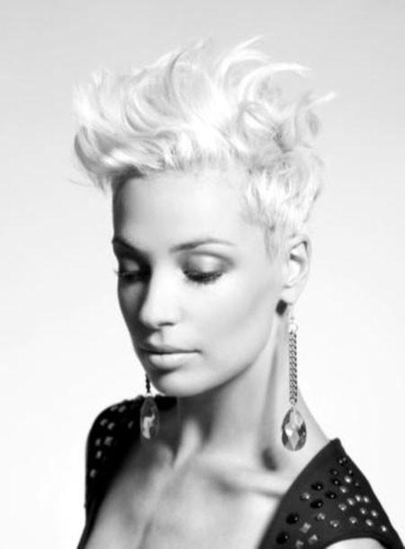 Platinum-Hair Trendy Haircuts for Short Hair