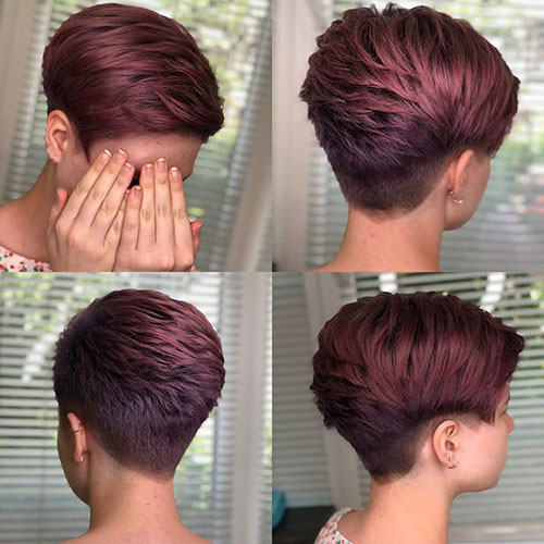 Red-Hair Best Short Layered Pixie Cut Ideas 2019