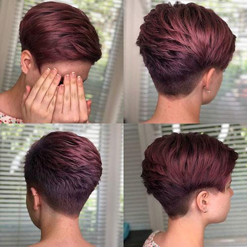 Red-Hair Best Short Layered Pixie Cut Ideas 2019