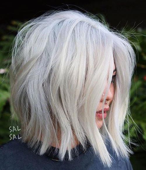 Shag-Haircut New Short White Hair Ideas 2019