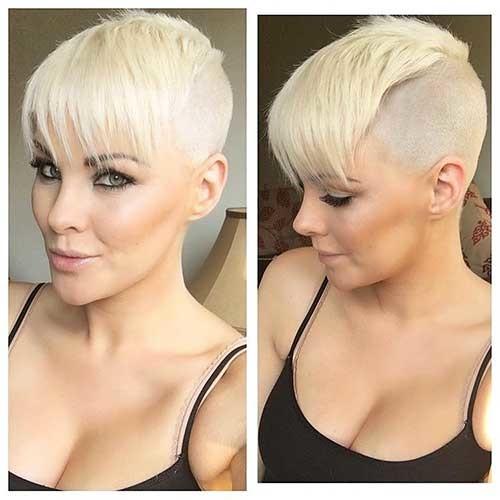 Shaved-Pixie-Style Striking Short Hair Ideas for Blondies