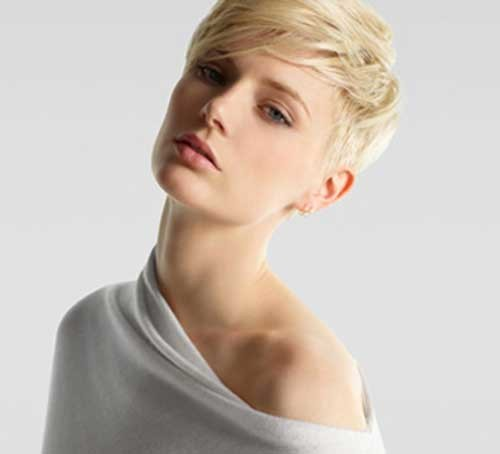 Short-Blonde-Casual-Pixie Womens Short Hairstyles for Thin Hair