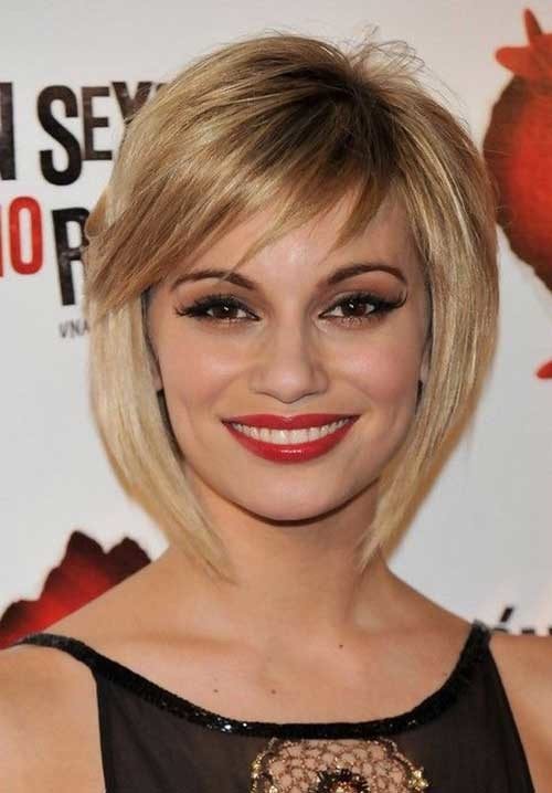 Short-Bob-Hair-with-Thin-Bangs-for-Women Short Bob Hairstyles for Women