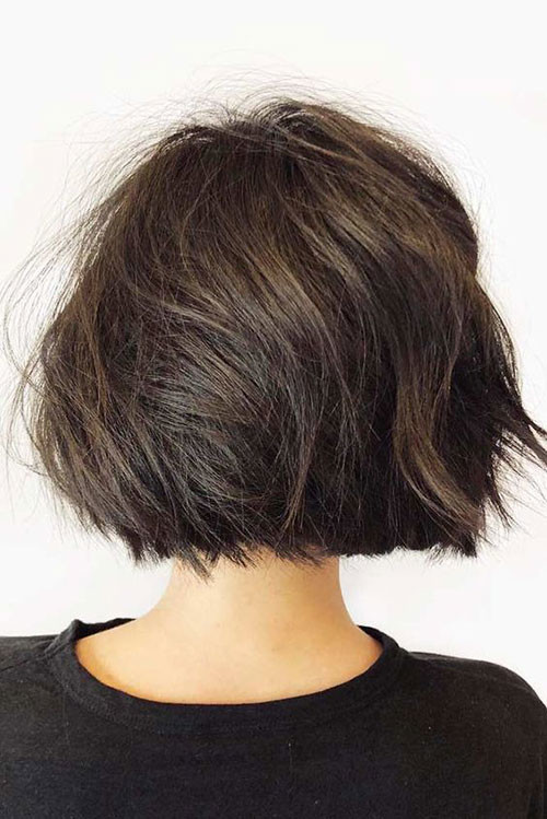 Short-Bob-Style Short Brown Hairstyles for Fashionable Women