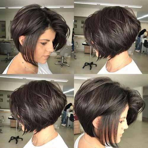 Short-Bob-Thick-Hair Flattering Layered Short Haircuts for Thick Hair