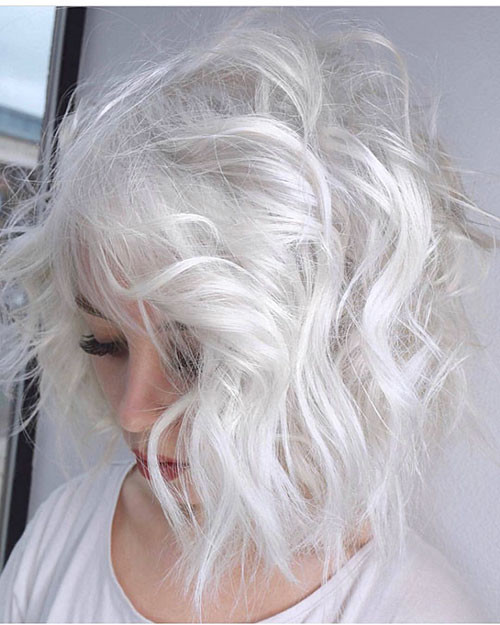 Short-Curly-White-Hair New Short White Hair Ideas 2019