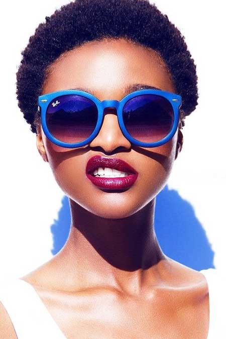 Short-Cute-Afro-Haircut Black Hair Short Cuts 2019