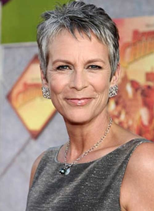Short-Fine-Grey-Pixie-Style-for-Over-50 Short Hair Styles for Over 50
