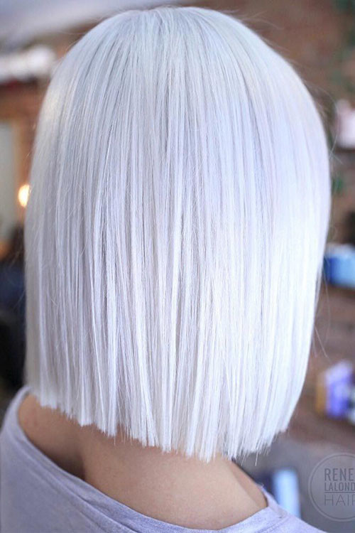 Short-Hairstyles-For-White-Hairstyle New Short White Hair Ideas 2019