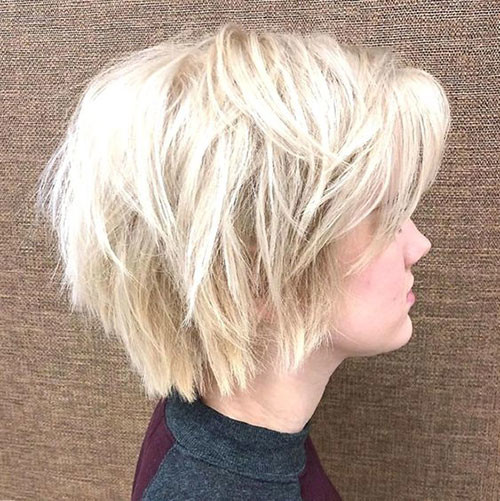 Short-Messy-Layered-Blonde-Bob Various Short Blonde Bob Hairstyles
