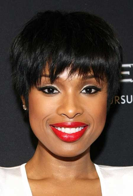 Short-Messy-Simple-Hair Hairstyles for Black Women with Short Hair