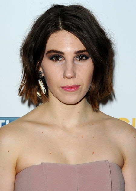 Short-Natural-Messy-Ombre Best Celebrity Short Hairstyles