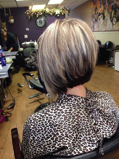 Short-Nice-Straight-Hair-Stacked-Cut Short stacked haircut