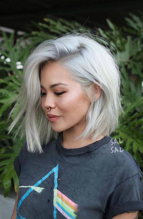 Short-Platinum-Blonde-Hair Trendy Hair Colors for Short Hair for Ladies