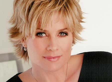 Short-Thick-Blonde-Layered-Hairstyle Short blonde hairstyles