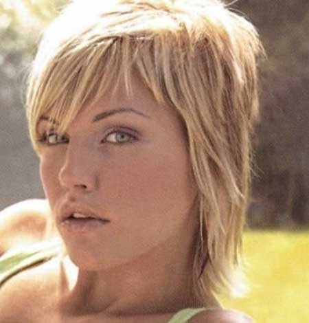 Short-Thick-Layered-Hairstyle Short blonde hairstyles