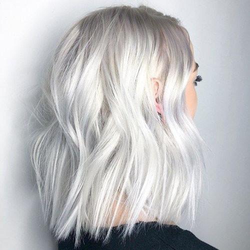 Short-White-Blonde-Hairstyles New Short White Hair Ideas 2019