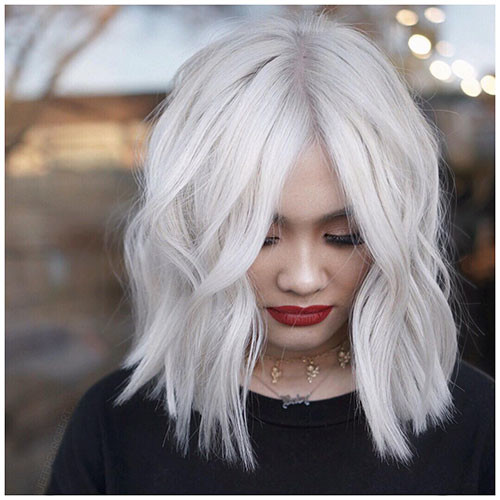 Short-White-Hair New Short White Hair Ideas 2019