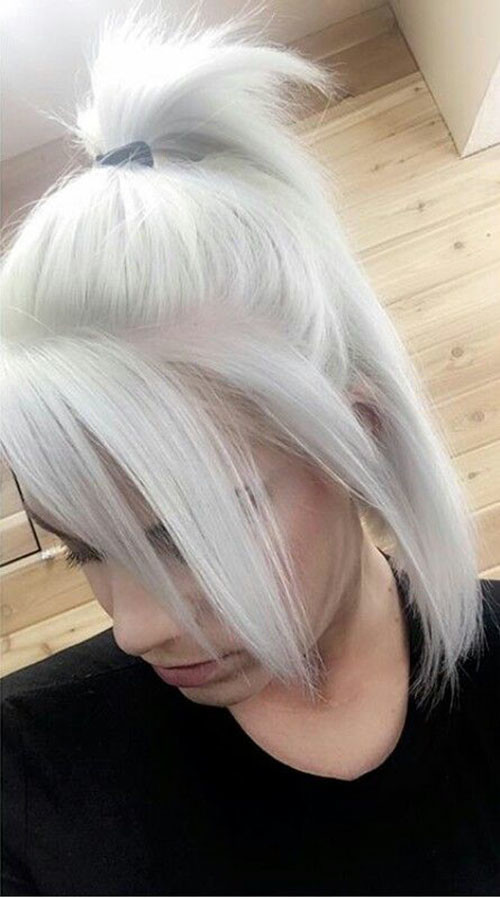 Short-White-Hairstyles New Short White Hair Ideas 2019