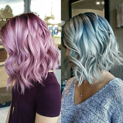 Silver-Blue-Hair Popular Short Blue Hair Ideas in 2019