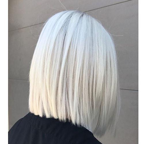 Straight-Bob-Hair New Short White Hair Ideas 2019