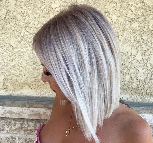 Straight-Hair-1 New Ash Blonde Short Hair Ideas