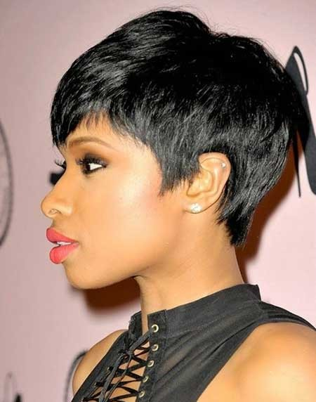 Straight-Layered-Simple-Casual-Hair Hairstyles for Black Women with Short Hair