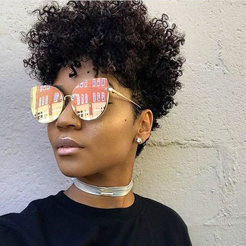 Tapered-Natural-Curly-Hair In Style Short Haircuts for Black Women