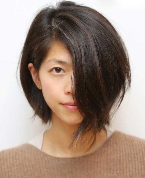 Textured-Bob-2 Asymmetrical Short Haircuts for Fabulous Look