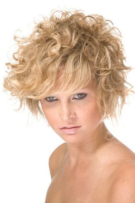 The-Awesome-Messy-Asymmetric-Bob-Cut Cuts for Short Curly Hair