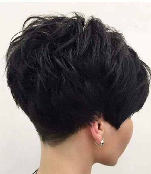 Thick-Pixie-Hair Sweet and Sexy Pixie Hairstyles for Women