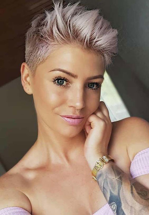 Too-Short-Blonde-Pixie Short Pixie Haircuts for Pretty Look