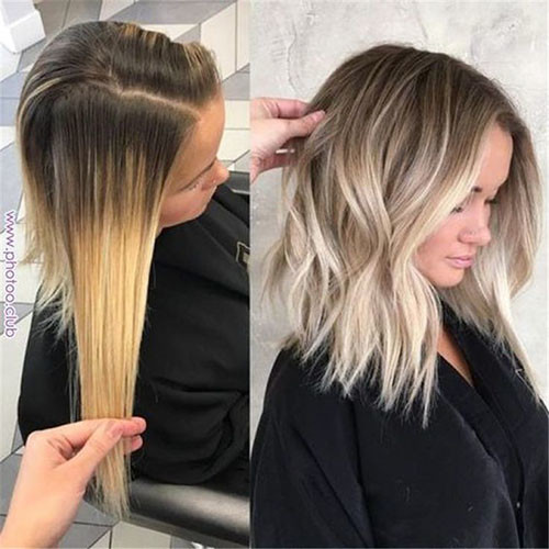 Trendy-Hair Beautiful Brown to Blonde Ombre Short Hair