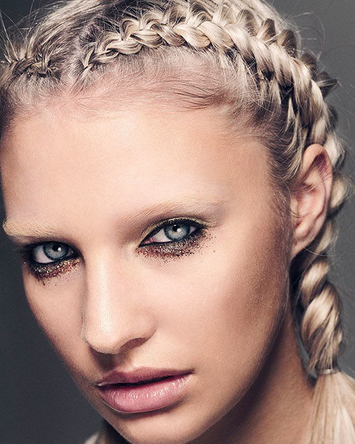 Two-French-Braids-Short-Hair Best French Braid Short Hair Ideas 2019