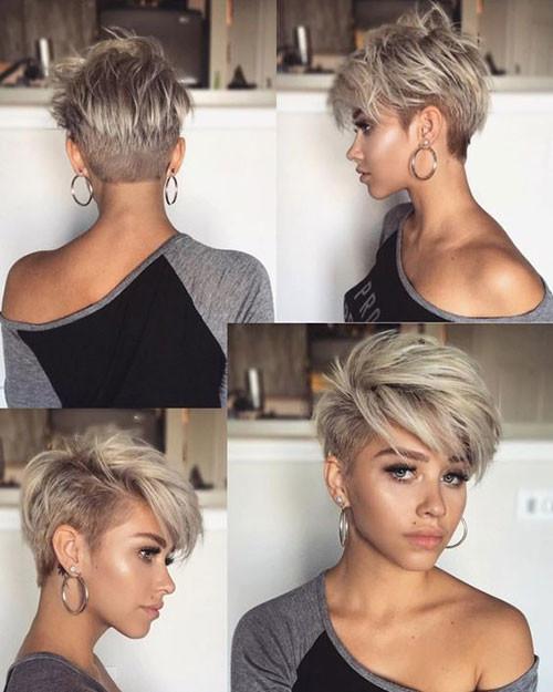 Undercut-Pixie-Haircut Cute Short Haircuts and Styles Women