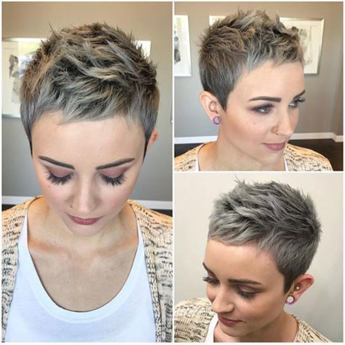 Very-Short-Pixie-Hairstyle-2019 Short Pixie Haircuts for Pretty Look