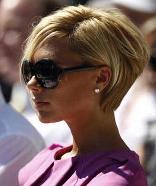 Victoria-Beckham-Blonde-Color-Short-Straight-Hair Victoria Beckham Short Blonde Hair