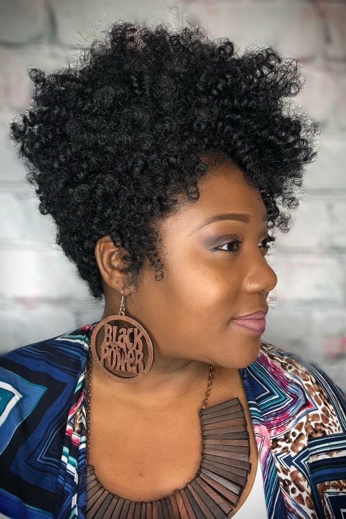 Voluminous-Crochet-Pixie Best Short Hairstyles for Black Women