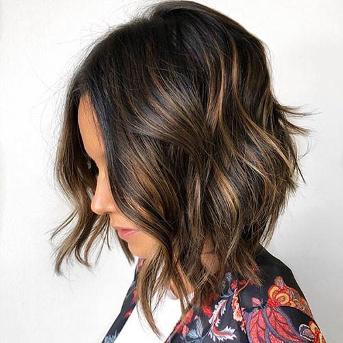 Wavy-Bob-Hair Latest Bob Haircut Ideas for 2019