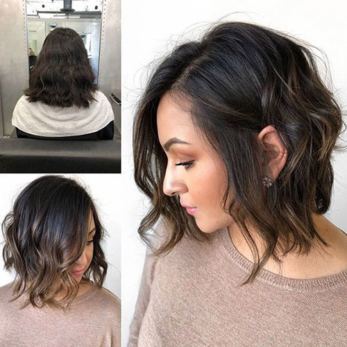Wavy-Lob-for-Girls Best Wavy Bob Hairstyles You will Like