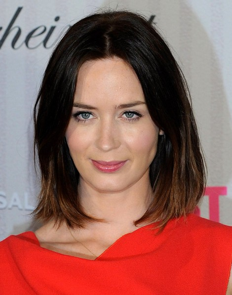 2014-Emily-Blunt-Hairstyles-–-Ombre-Long-Bob-Haircut Top 100 Celebrity Hairstyles 2019